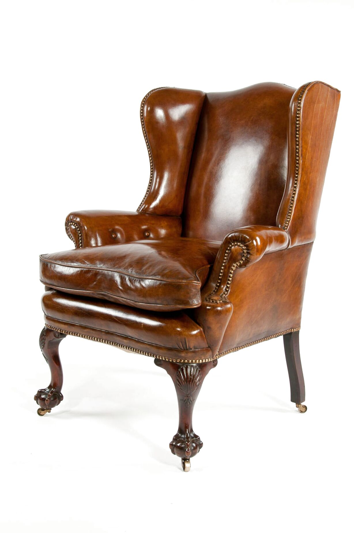 leather wing chair for sale