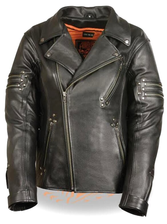 ladies leather motorcycle jacket for sale