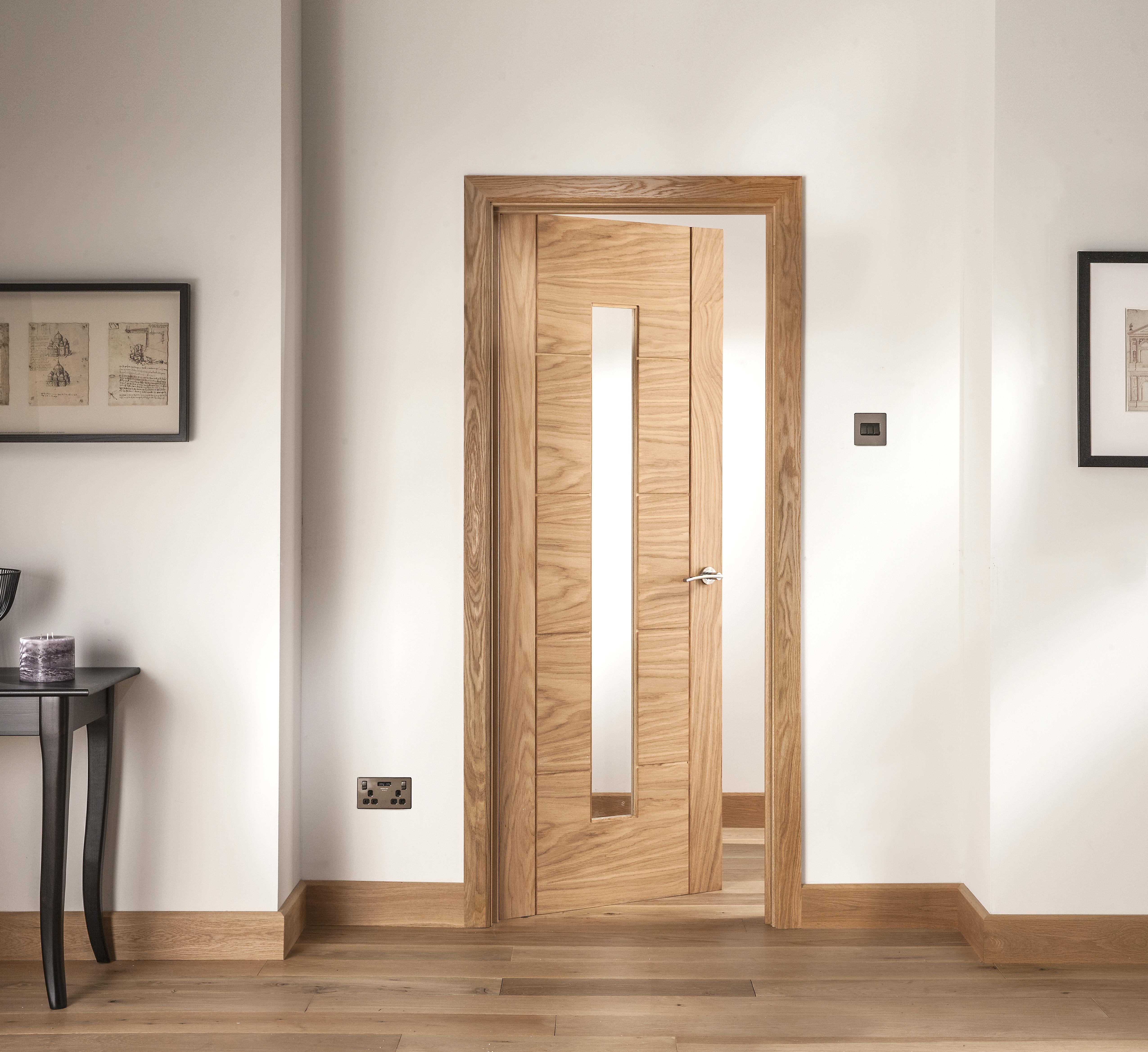 oak internal door glazed for sale
