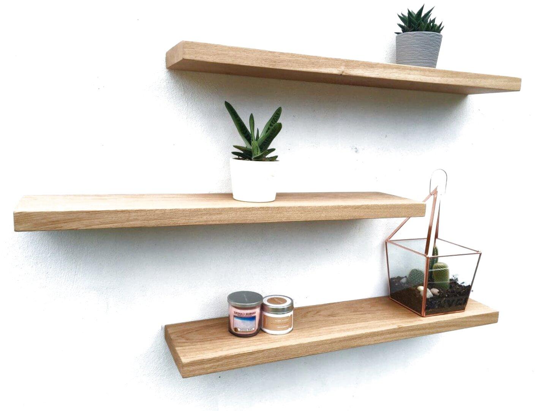 oak floating shelves for sale