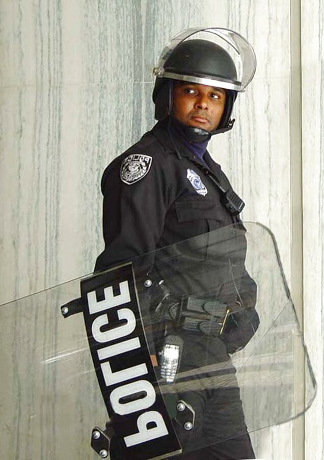 INTERLOCKING TACTICAL JAIL X POLICE RIOT SHIELD CLEAR PUBLIC ORDER