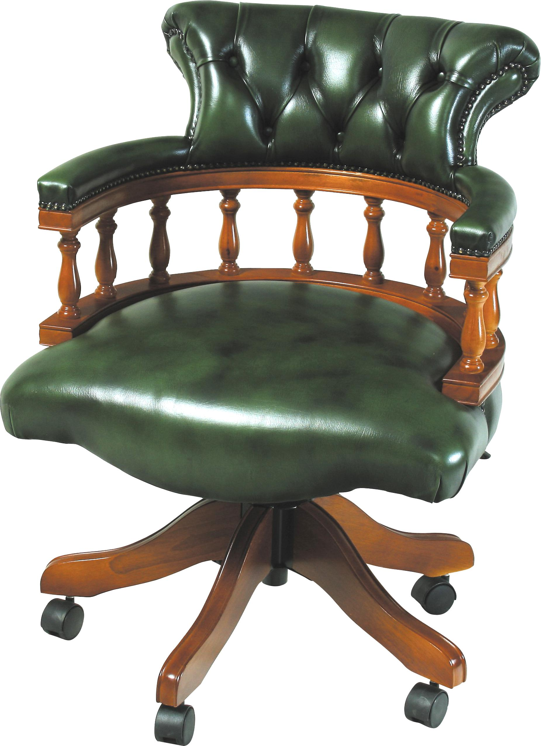 leather captains chair for sale