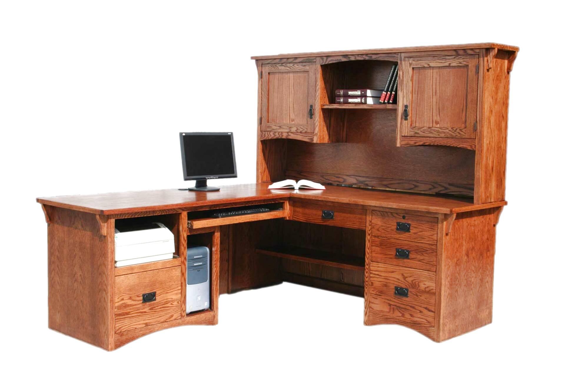 oak computer workstation for sale