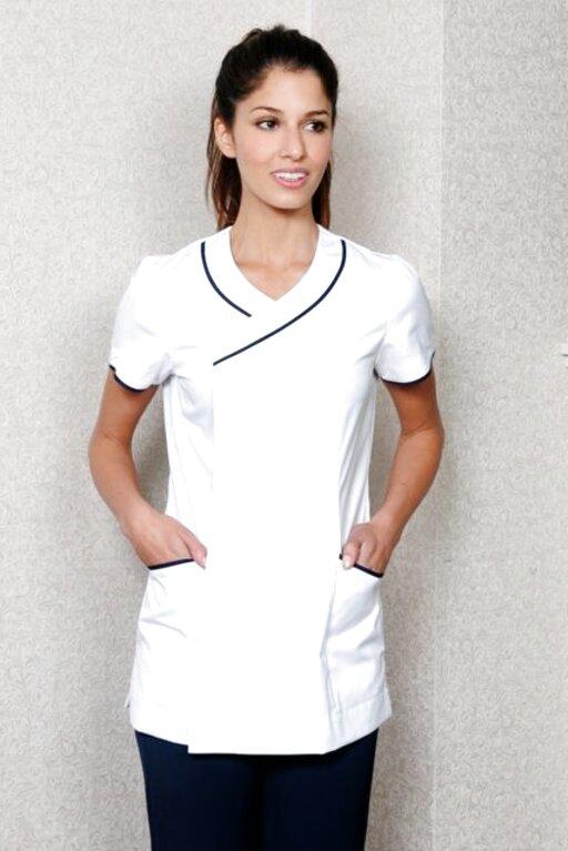 14 Aqua White Alexandra Traditional Ladies Women Nursing Tunics Nhs Health Medical Care Tops