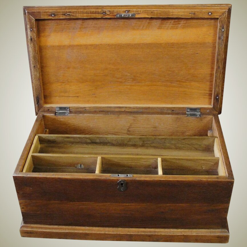 Antique Wood Tool Box for sale in UK View 33 bargains