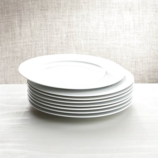 white porcelain dinner plates for sale