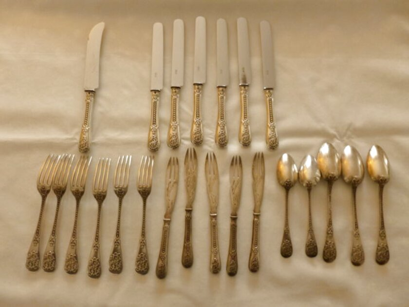 solid silver cutlery set for sale