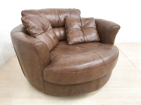 leather cuddle chair for sale