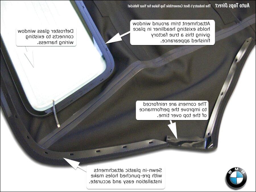 Gaetooely Car Repair Tools Convertible Roof Top C Column Repair Kit 54317135351 for E46
