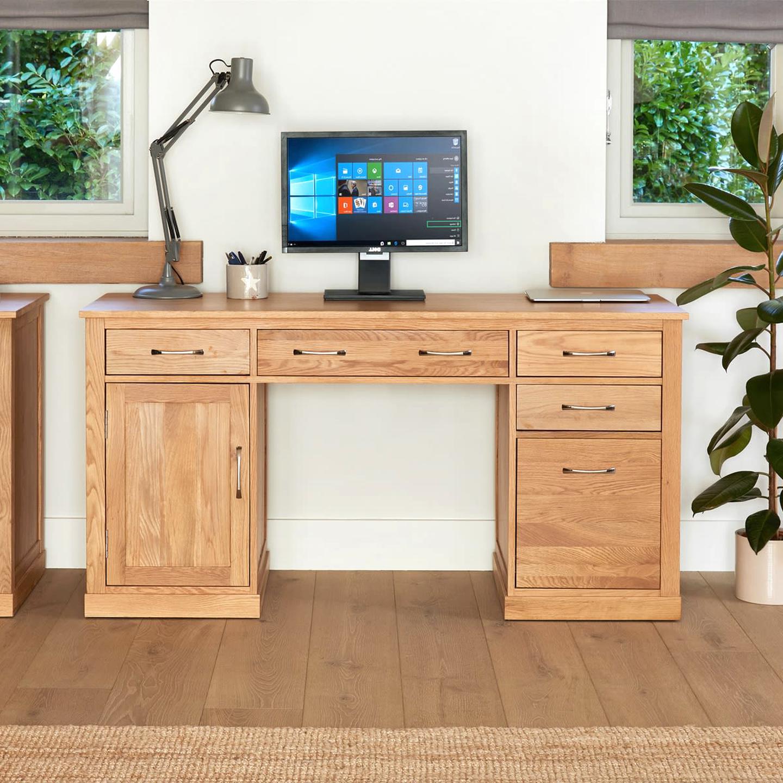 oak computer desk for sale