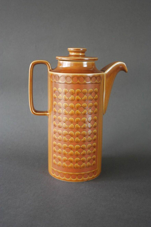 hornsea saffron coffee pot for sale