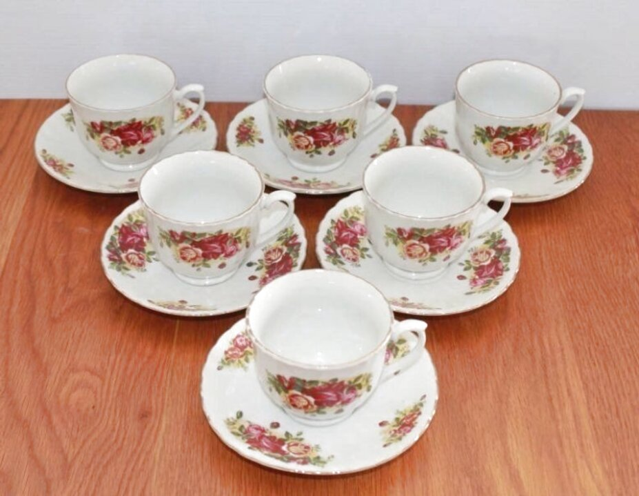 english rose tea set for sale