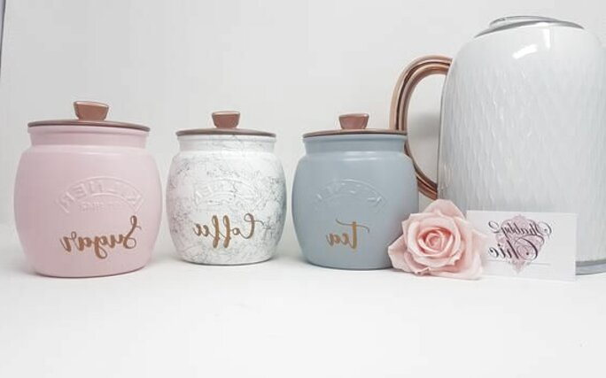 Pink Tea Sugar Coffee Jars For Sale In Uk View 60 Ads