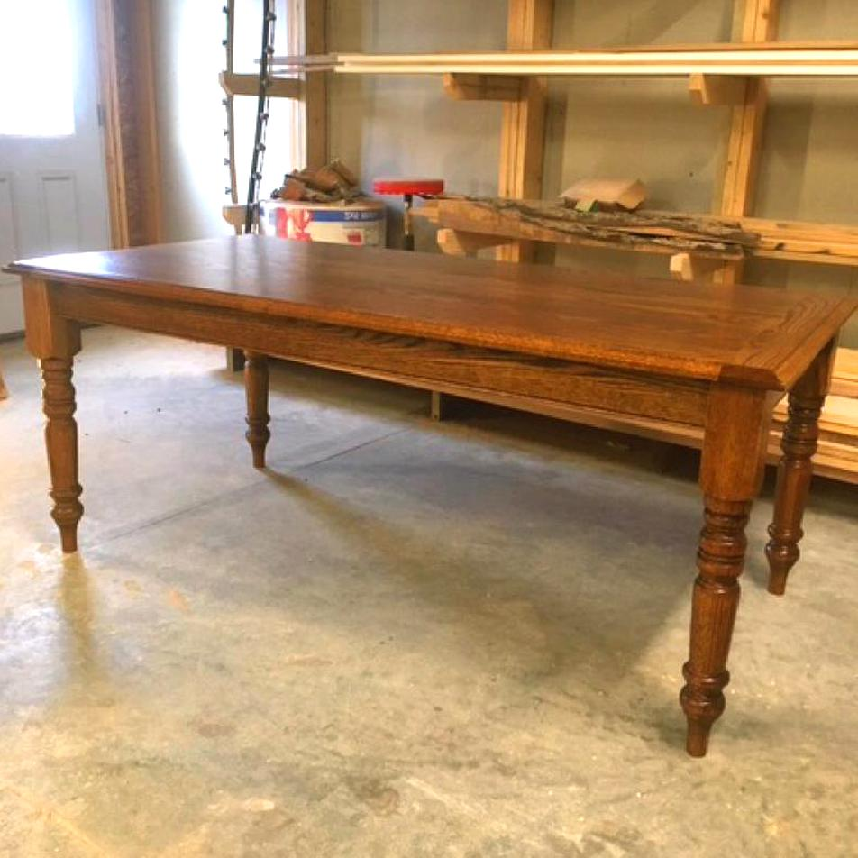 oak farmhouse table for sale