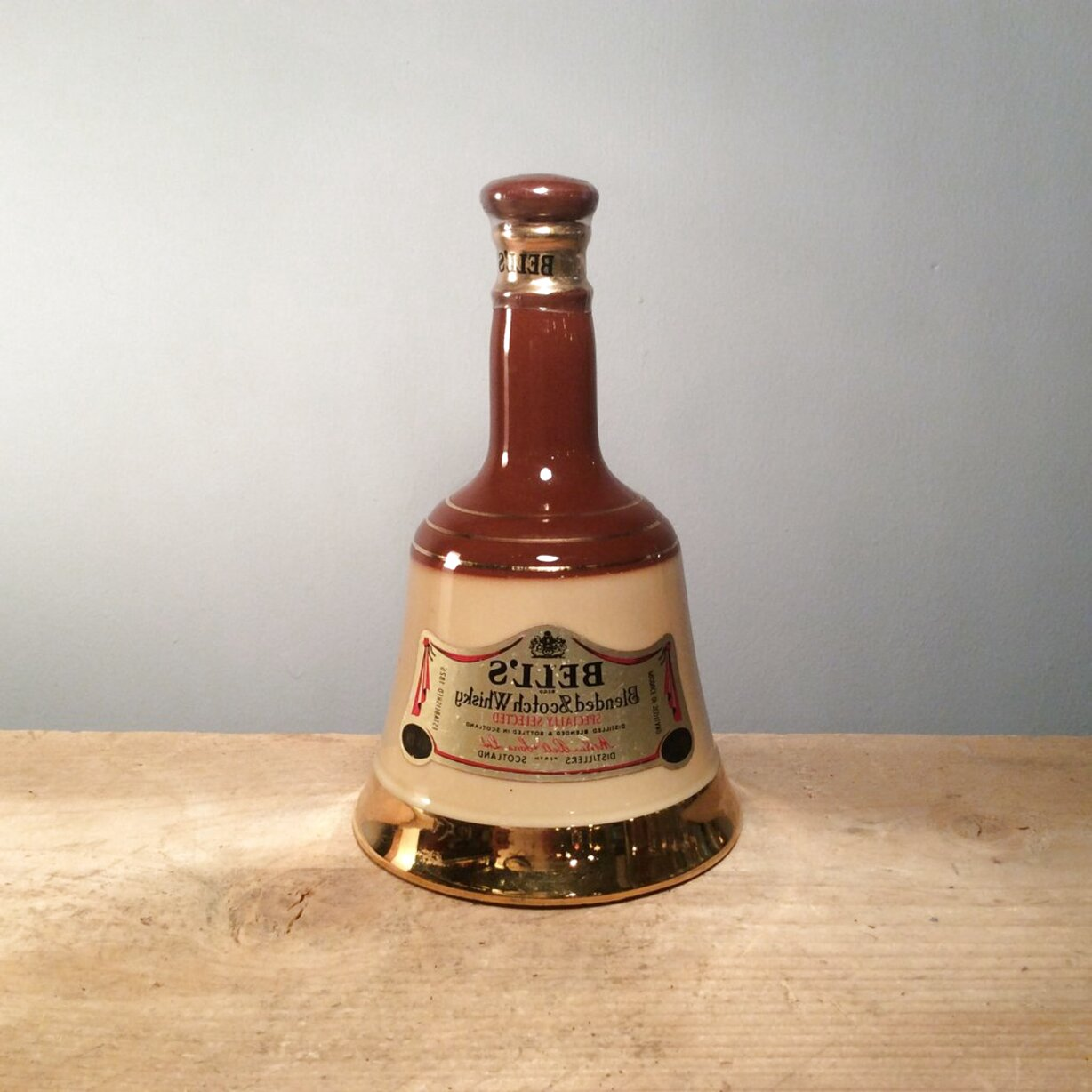 bells whiskey decanters full for sale