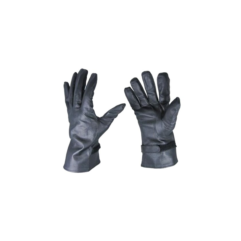French Army Black Leather NBC GLOVES Nuclear Biological Chemical FREE SHIPPING