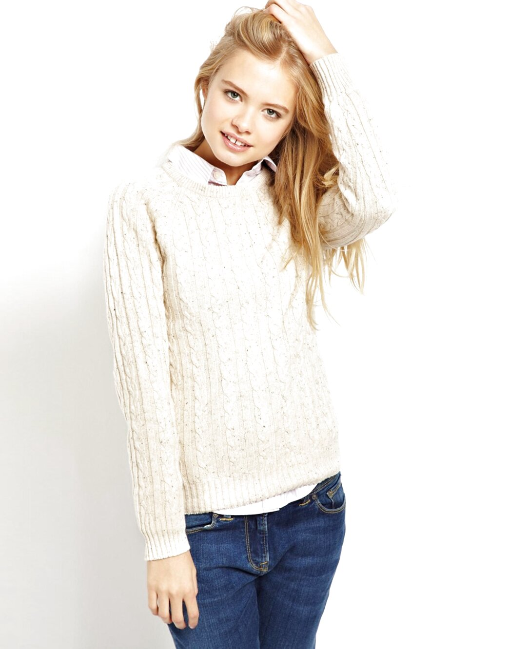 jack wills cable knit jumper for sale