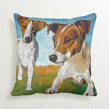 jack russell terrier cushions for sale
