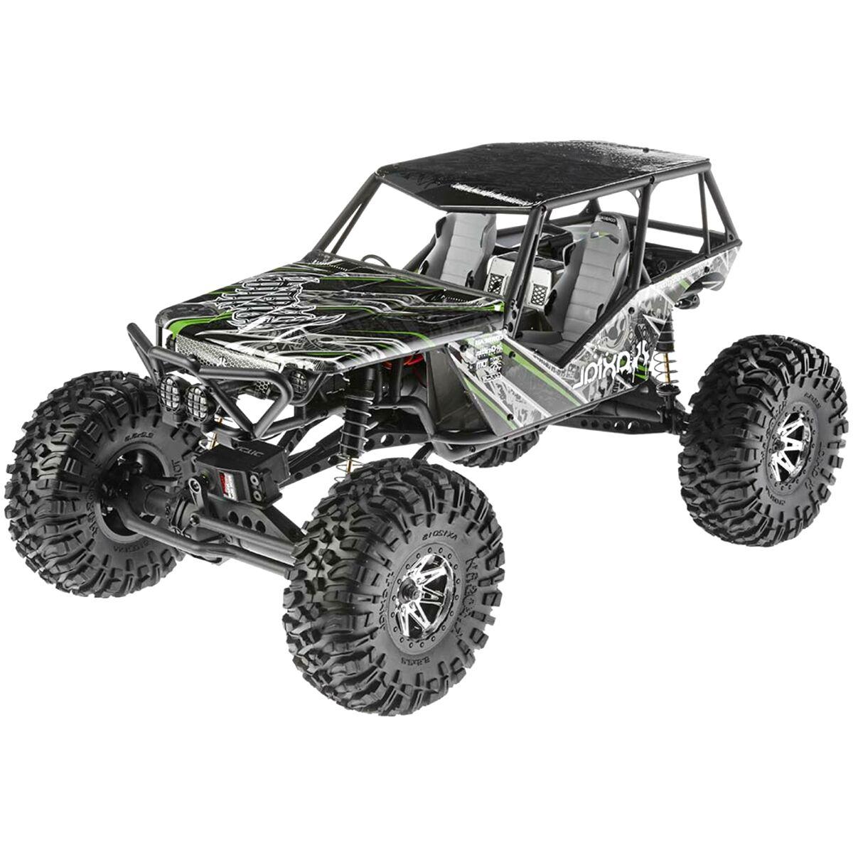 Silver XUNJIAJIE 4PCS Aluminium Alloy 2.2inch RC Beadlock Wheels Rims for 1//10 Crawler Truck Car Axial Wraith