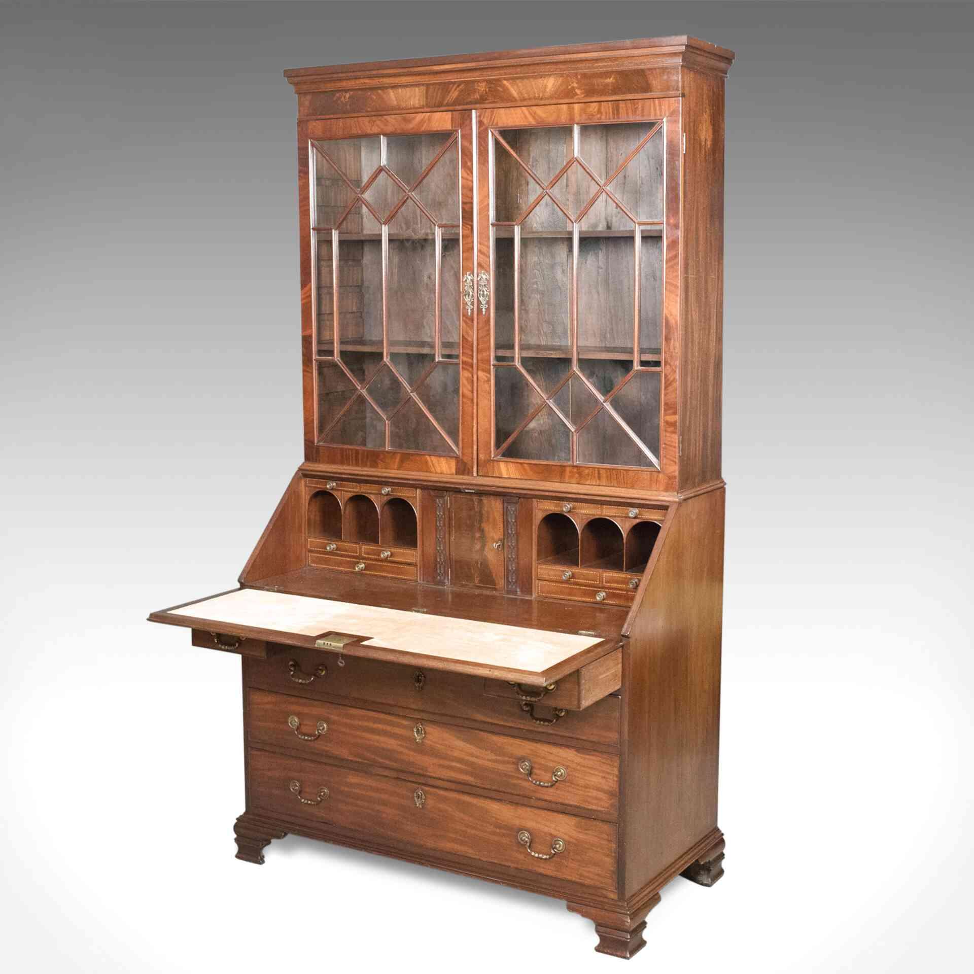 antique bureau bookcase for sale