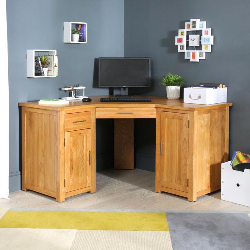 oak corner office desk for sale
