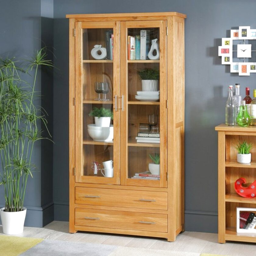 oak display cabinet for sale