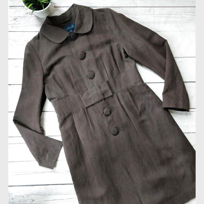 MMOOVV Women Long Sleeve Front Pocket Cardigan Suit Jacket Coat Tops