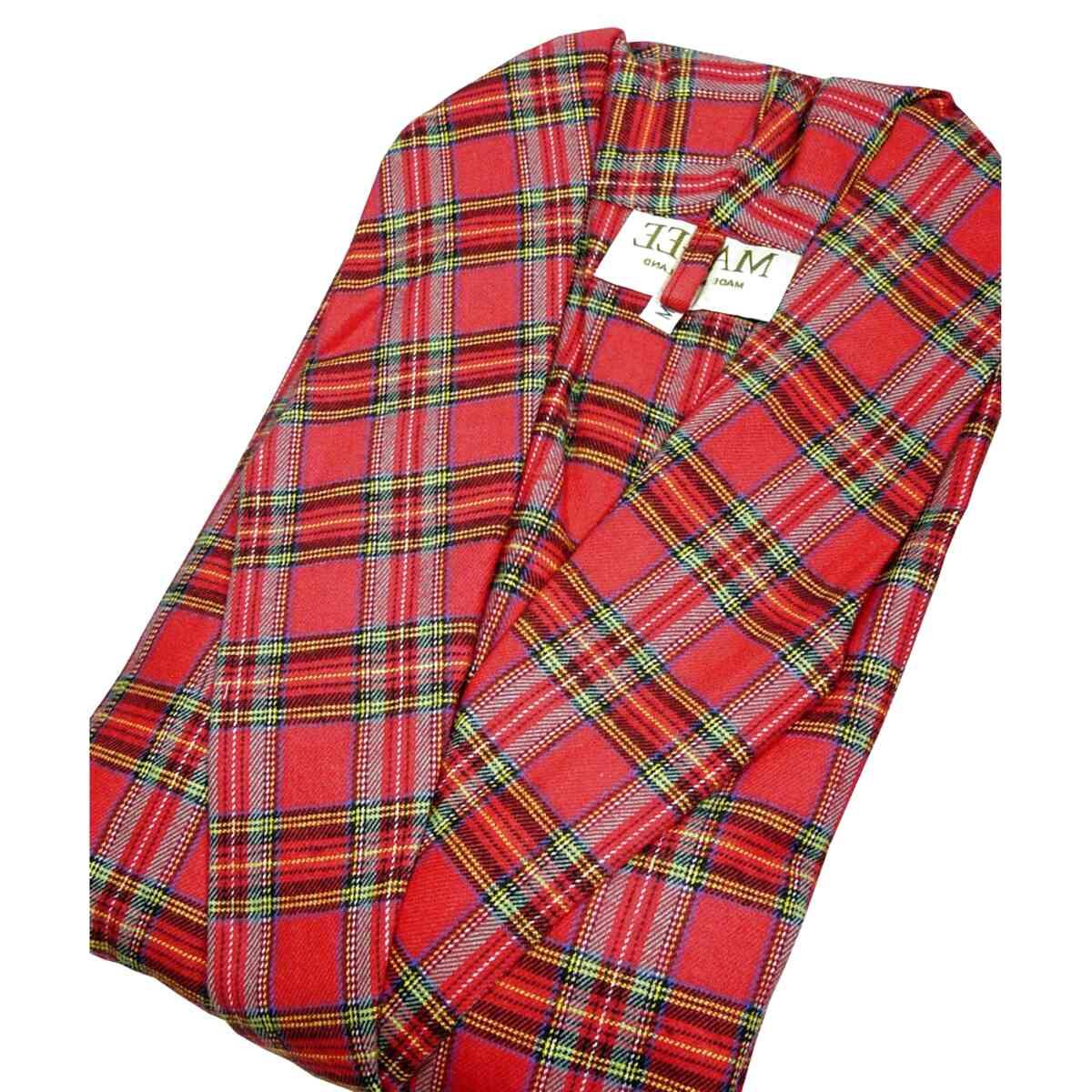 Scottish Blue Tartan sizes available Men/'s Warm Fleece Robe