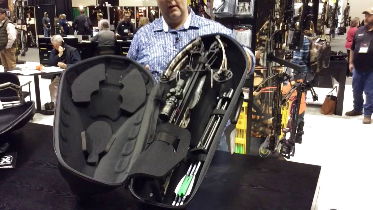 Large Padded Rifle Crossbow Xbow Case Carry Bag With Bolt Arrow Pocket New UK