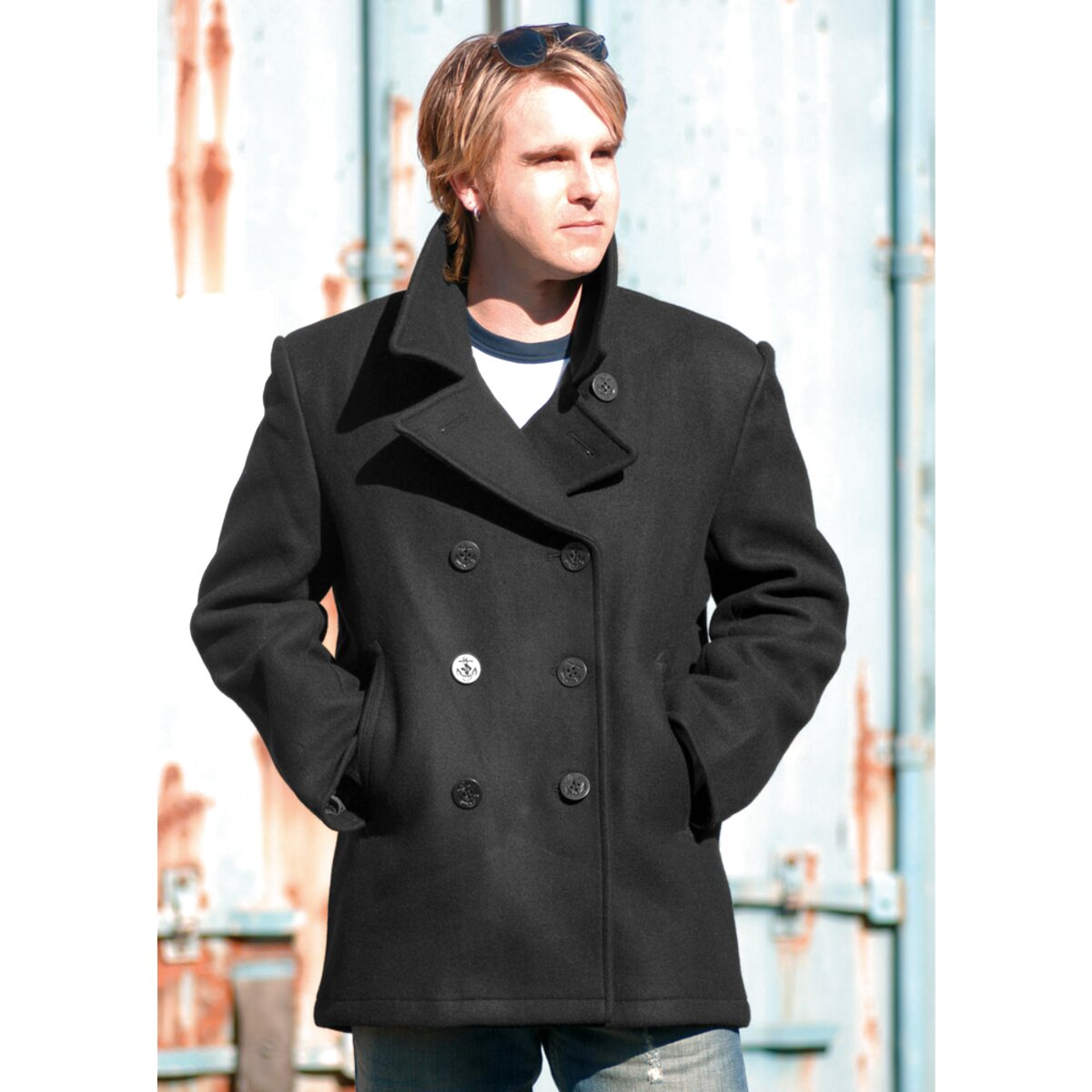 mens pea jacket for sale