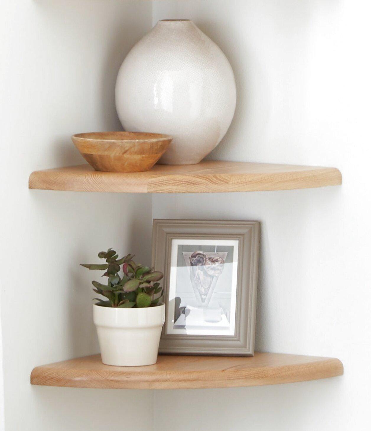 oak corner shelf for sale