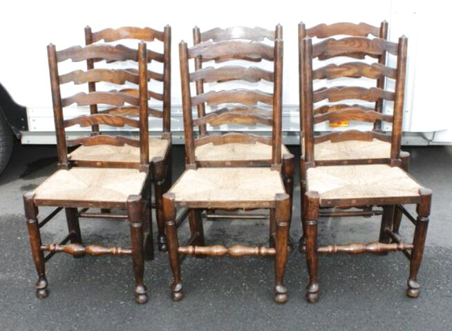 oak ladder back dining chairs for sale