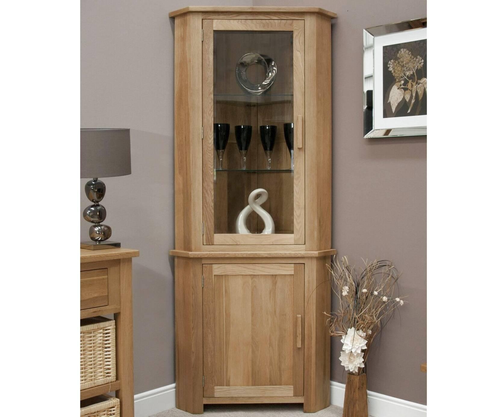 oak corner unit for sale