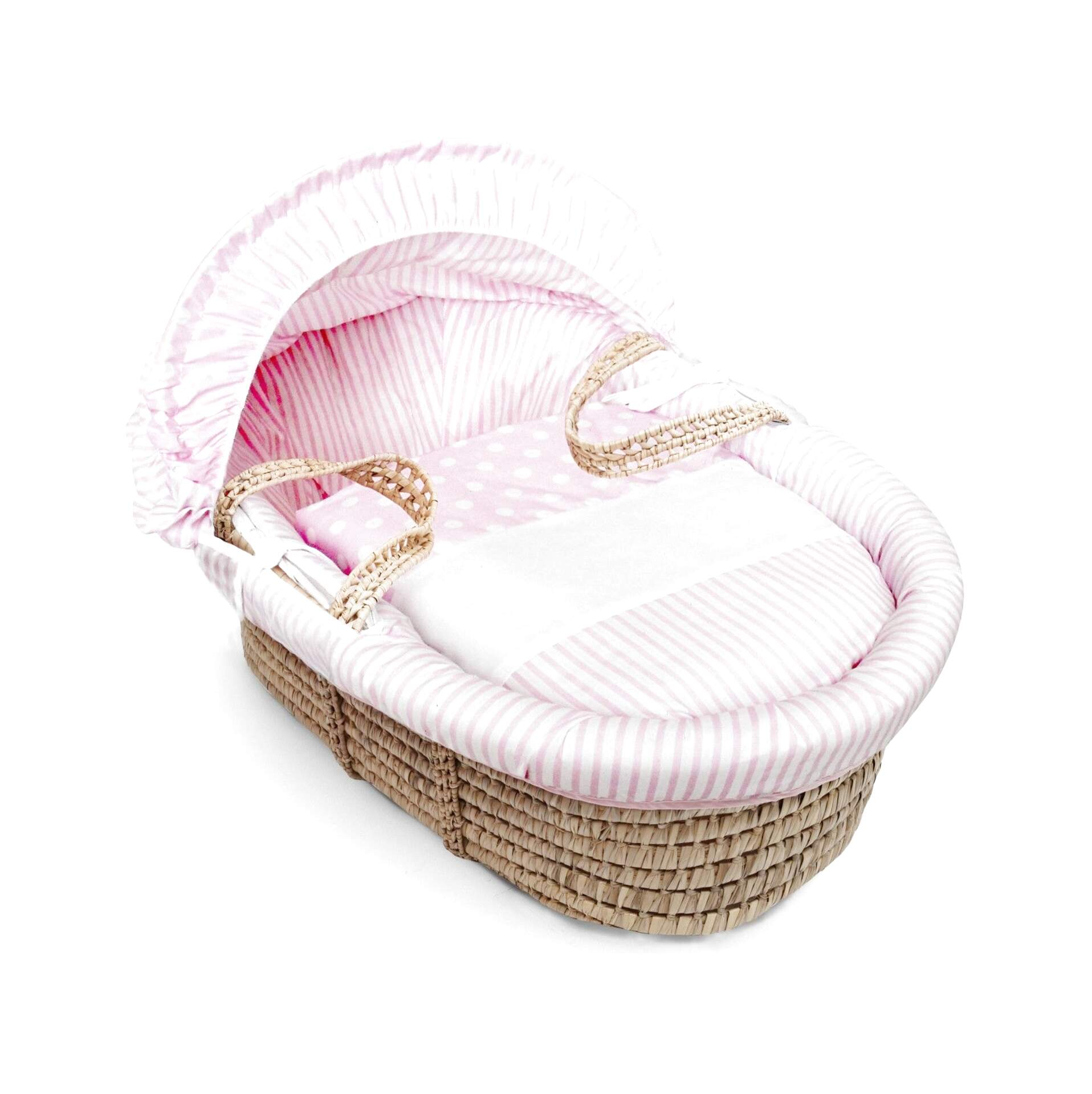 Basket Not Included Blue Spots /& Stripes Moses Basket 4 Piece Dressing