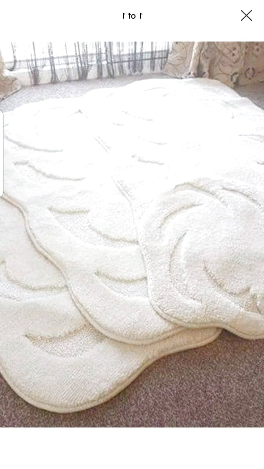 ROMANY WASHABLE TRAVELLERS 4 MATS NON SLIP NEW DESIGNS SUPER THICK CREAM CARVED