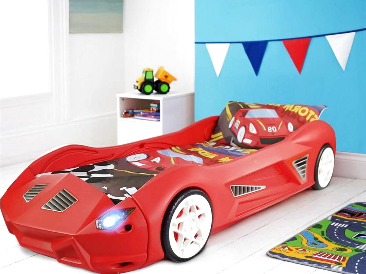 Children S Furniture Home Supplies Child Bed Carbed Speedy Racer Junior 140 X 70 Cm Red Blue Youth Racing Car Home Furniture Diy Tohoku Morinagamilk Co Jp