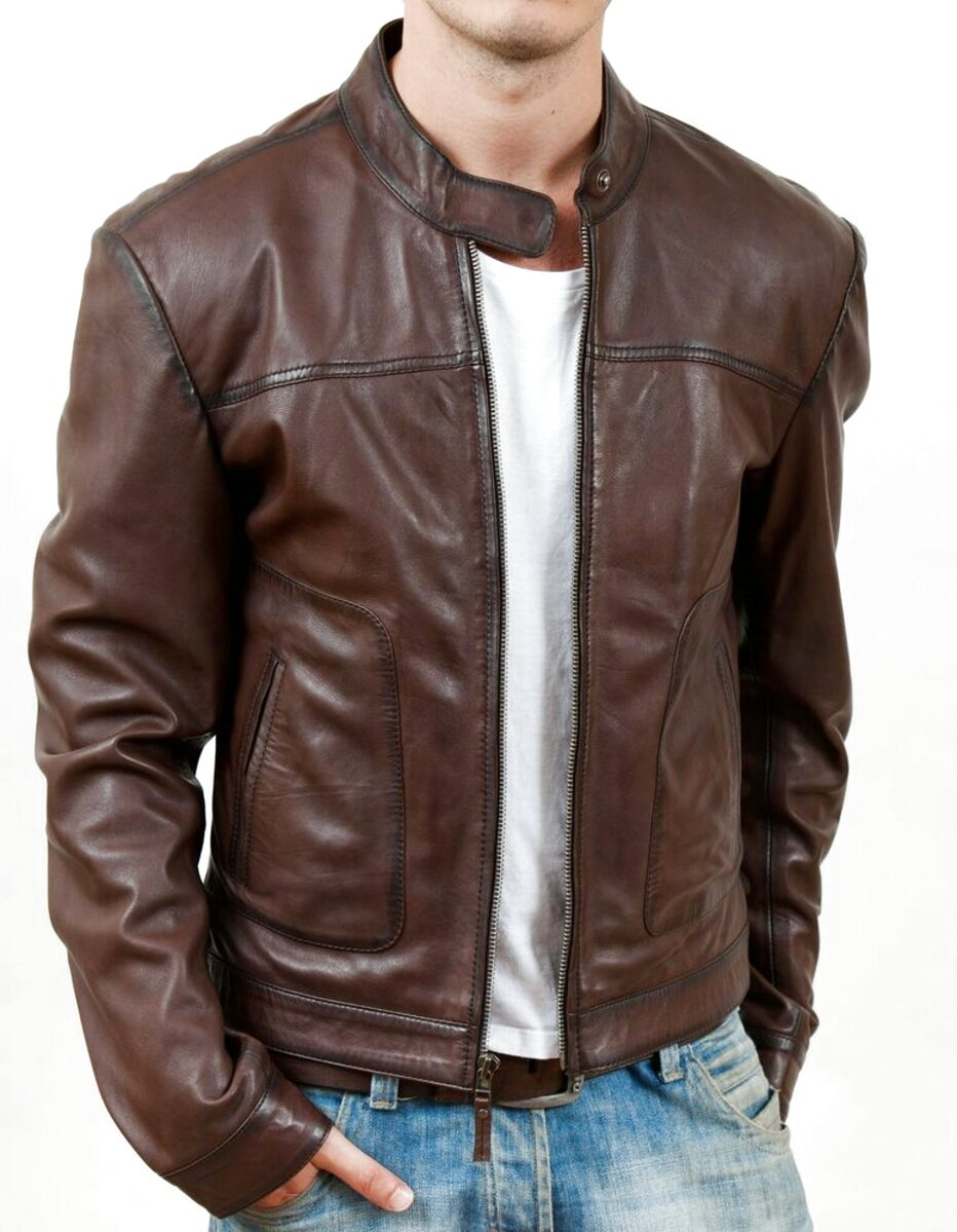 mens brown leather jackets for sale