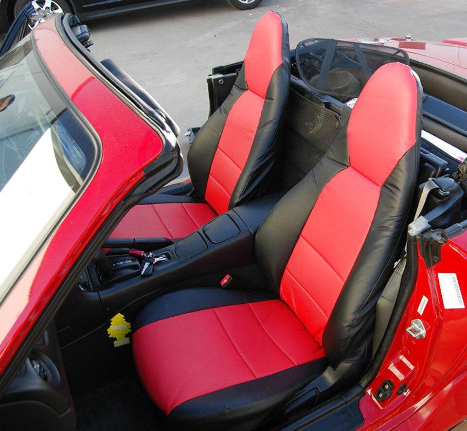 06-14 MAZDA MX5 FRONT GREY HEAVY DUTY PAIR CAR SEAT COVER SET