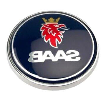 EU-Decals Set of 2 SAAB Viggen Wing Fender Black Yellow Chrome Badge Emblems Domed 3D Decal self-adhesive backing 9-3
