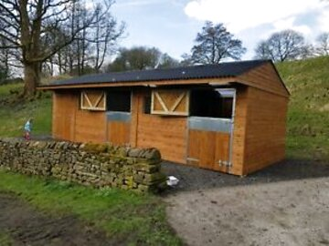 wooden horse stables for sale