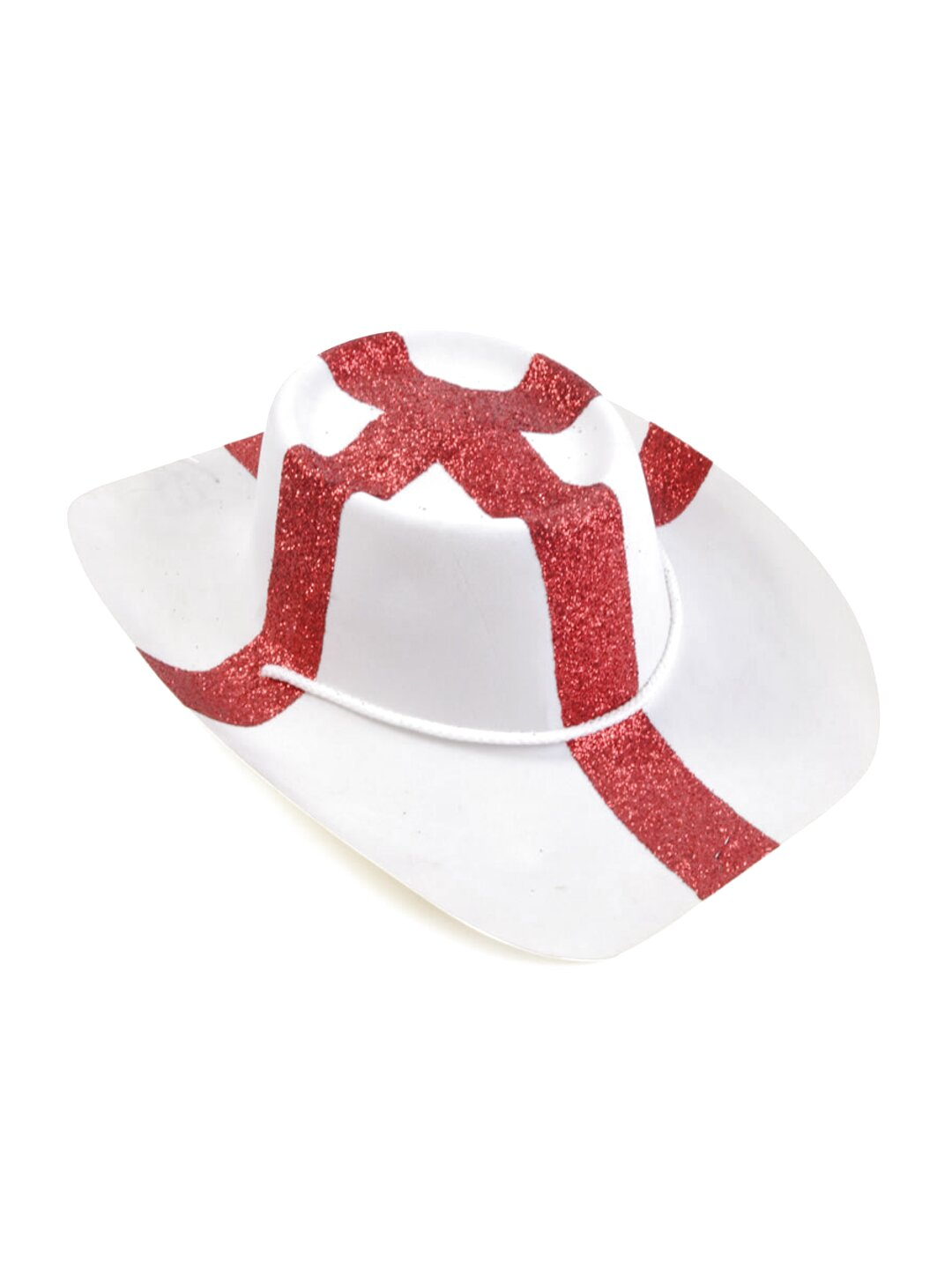 PACK OF 12 ST GEORGE PLASTIC BOWLER HATS ENGLAND FLAG RUGBY SPORT FANCY DRESS