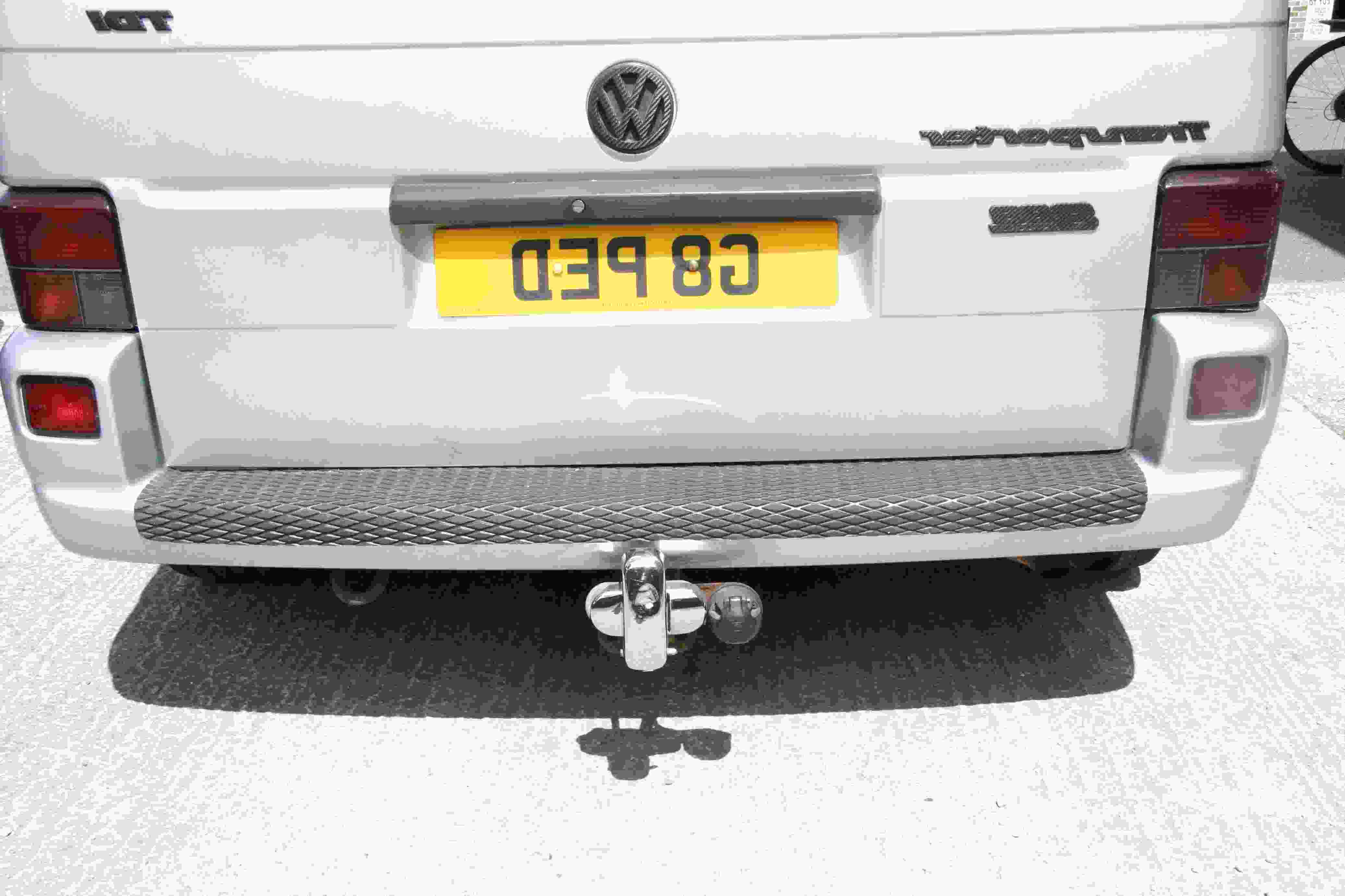T4 Rear Bumper Protector with Folded Edges Chrome Stainless Steel