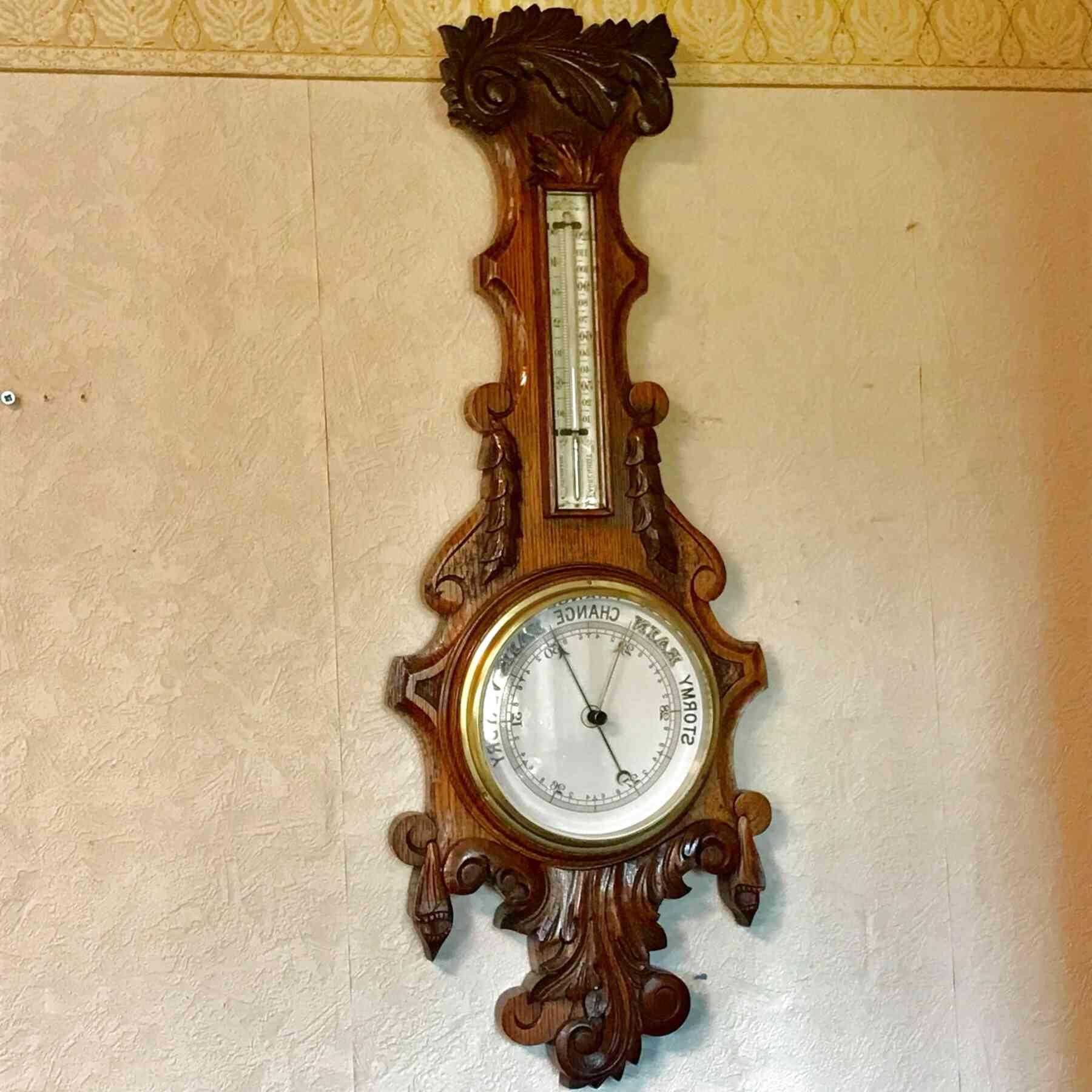 oak barometer for sale