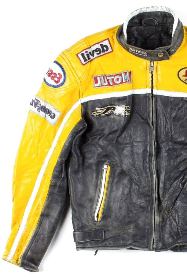 vintage leather racing jacket for sale