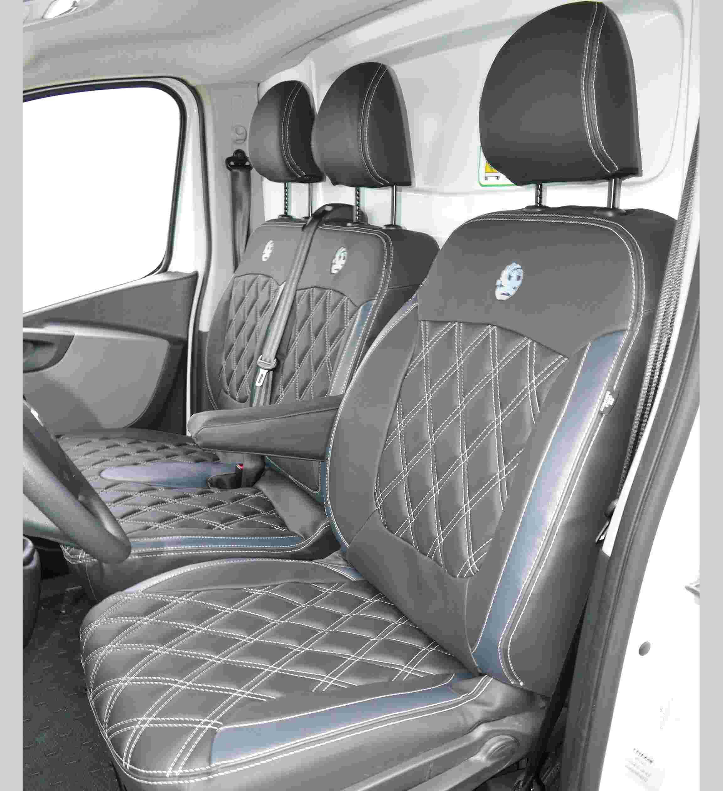 NISSAN PRIMASTAR 02-ON DELUXE RACING BLUE 2+1 VAN SEAT COVERS HEAVY DUTY